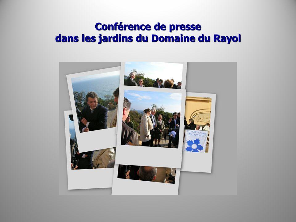 Conférence de presse dans les jardins du Domaine du Rayol