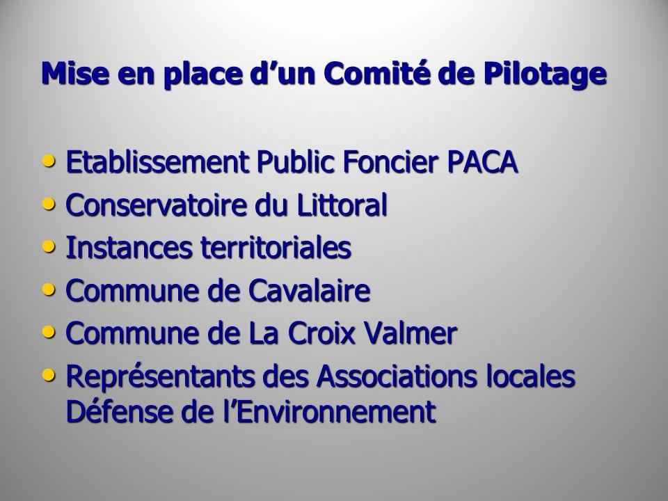 Mise en place dun Comité de Pilotage Etablissement Public Foncier PACA Etablissement Public Foncier PACA Conservatoire du Littoral Conservatoire du Li