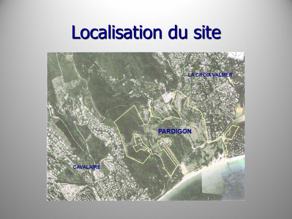 Localisation du site CAVALAIRE LA CROIX VALMER PARDIGON