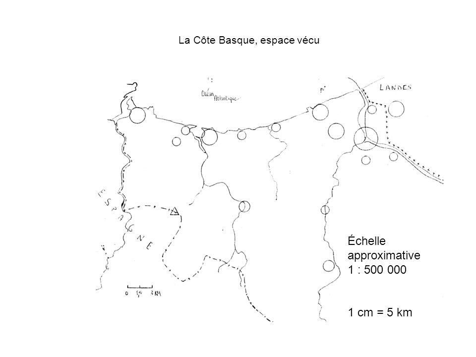 La Côte Basque, espace vécu Échelle approximative 1 : 500 000 1 cm = 5 km