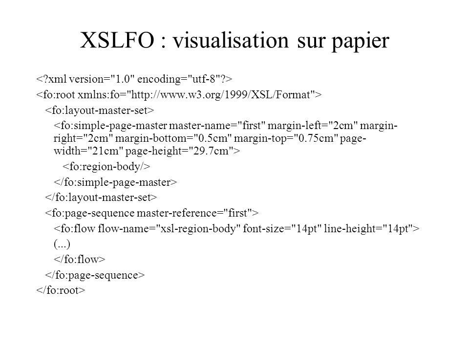 XSLFO : visualisation sur papier (...)