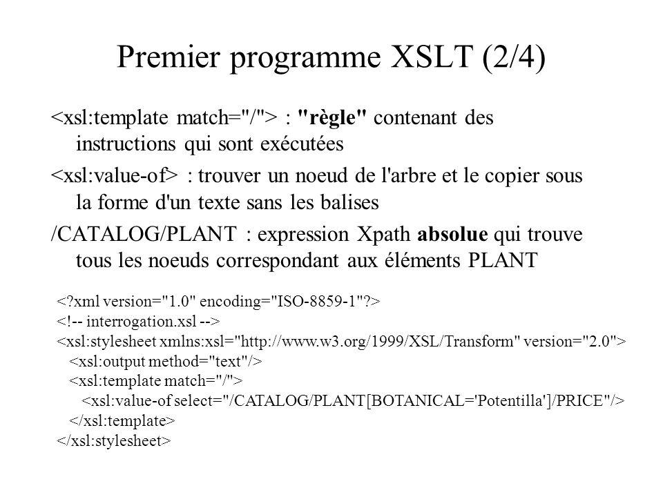 Premier programme XSLT (2/4) :