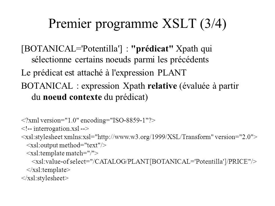 Premier programme XSLT (3/4) [BOTANICAL='Potentilla'] :
