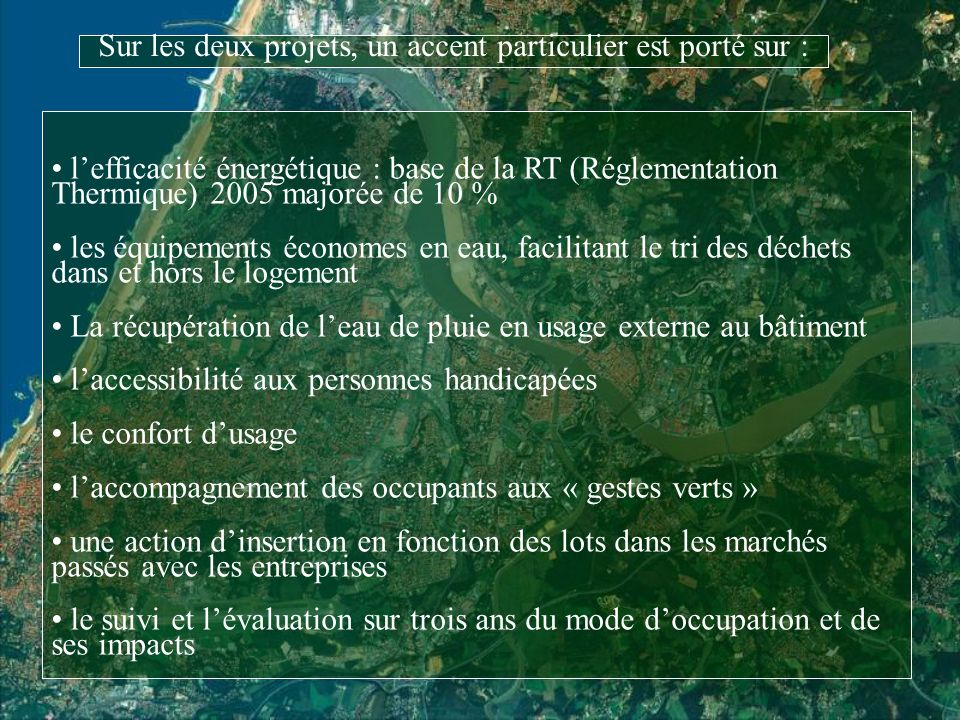 Premier constat : la filière locale de léco-construction….