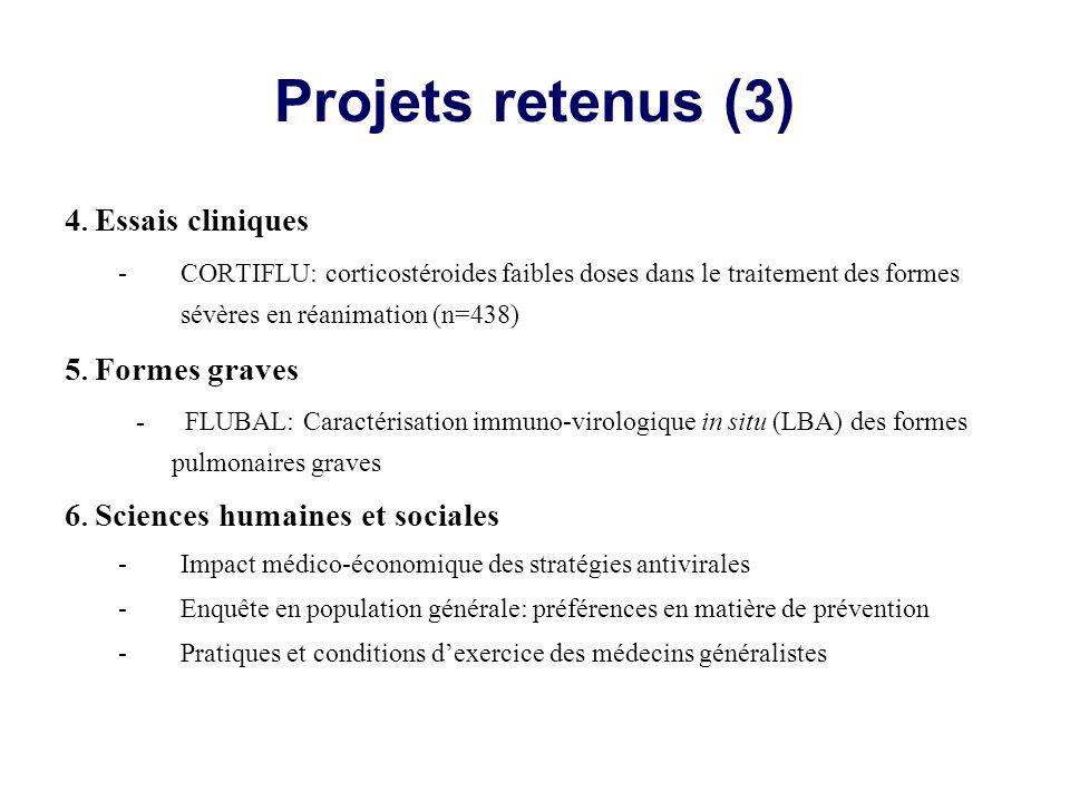 Projets retenus (3) 4.