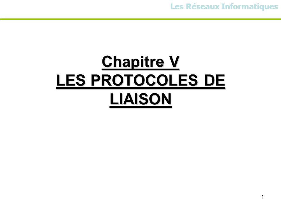 1 Chapitre V LES PROTOCOLES DE LIAISON Les Réseaux Informatiques