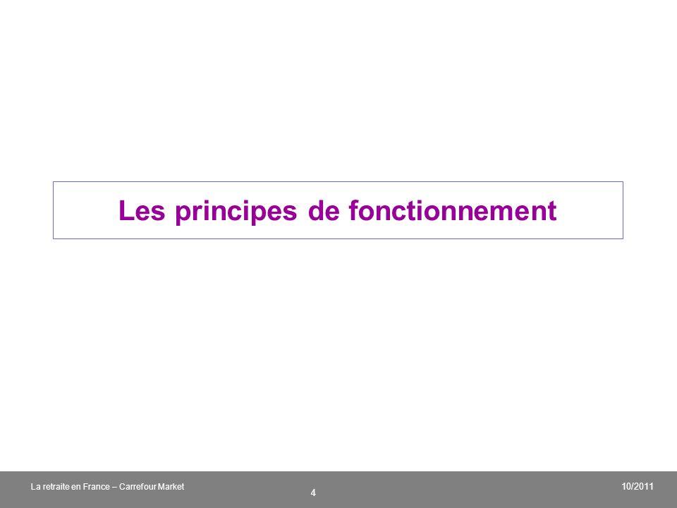 v 4 10/2011 La retraite en France – Carrefour Market Les principes de fonctionnement