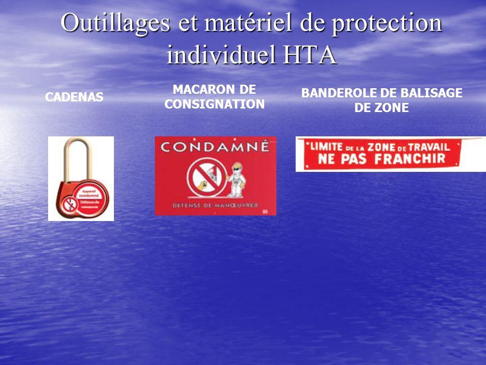 Outillages et matériel de protection individuel HTA CADENAS MACARON DE CONSIGNATION BANDEROLE DE BALISAGE DE ZONE