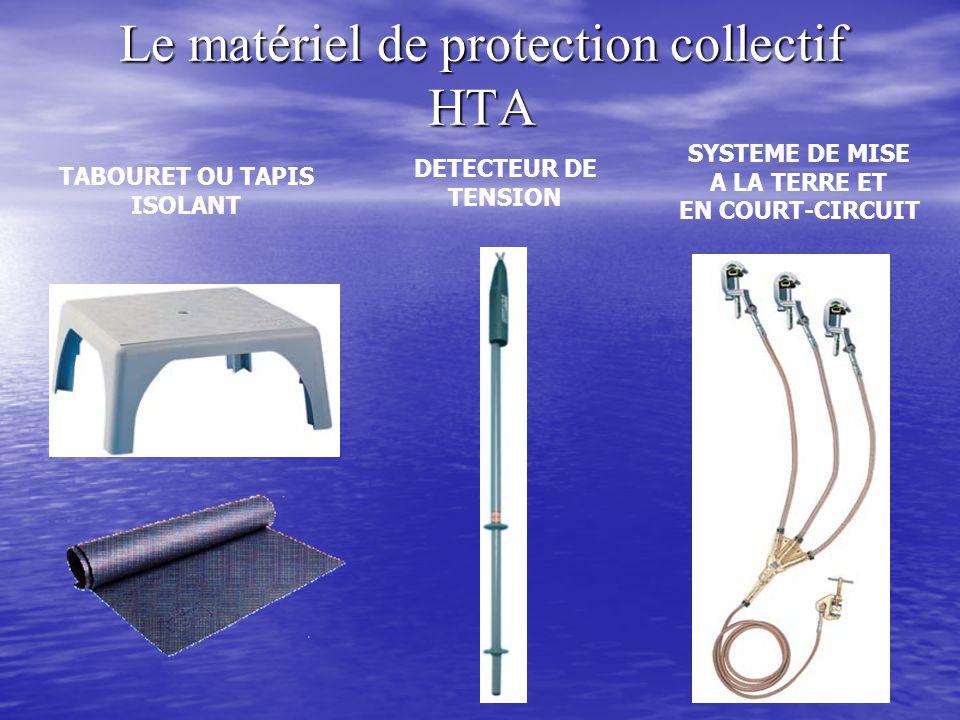 Le matériel de protection collectif HTA TABOURET OU TAPIS ISOLANT DETECTEUR DE TENSION SYSTEME DE MISE A LA TERRE ET EN COURT-CIRCUIT