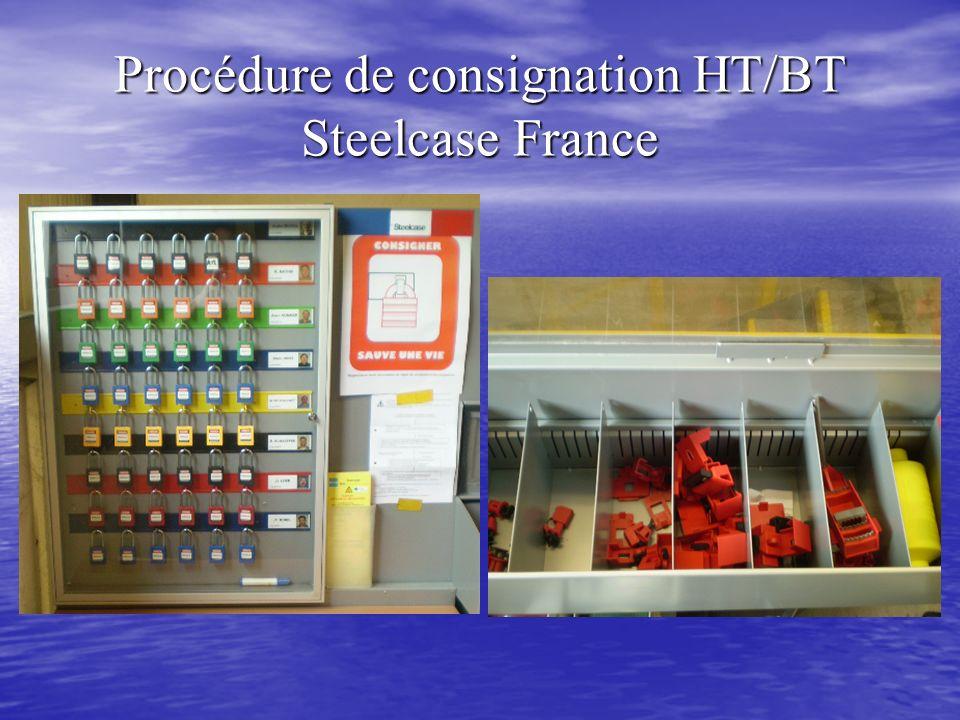 Procédure de consignation HT/BT Steelcase France