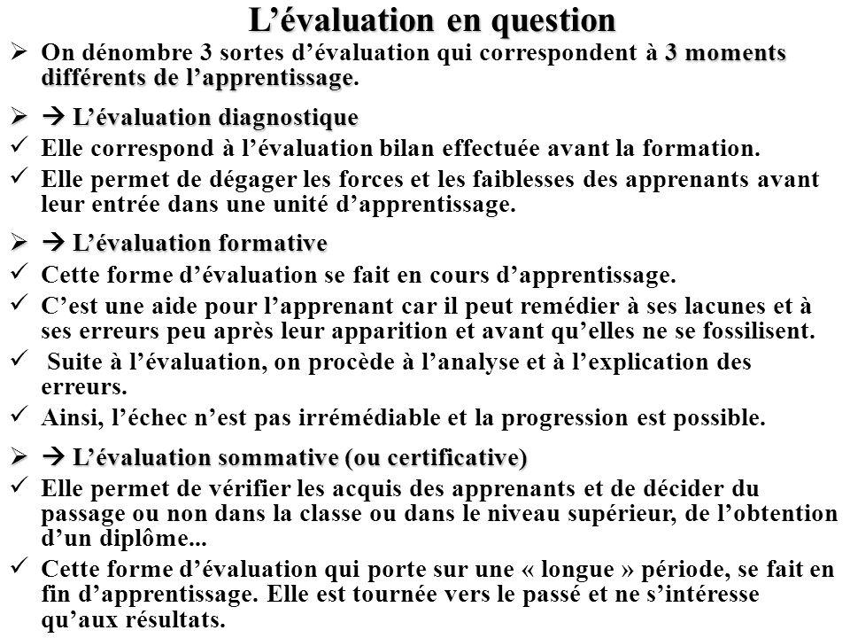 Lauto-évaluation Dans le cadre de lenseignement des langues, la pratique de lauto-évaluation permet à lapprenant de pouvoir vérifier si les habiletés langagières requises pour un niveau de compétence donné se développent correctement.