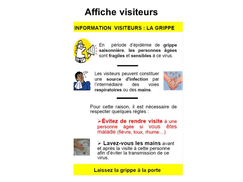 La préparation Prévoir laccès au matériel (masques, gants, PHA, tests diagnostics rapides grippe, …) Organiser des formations pour le personnel