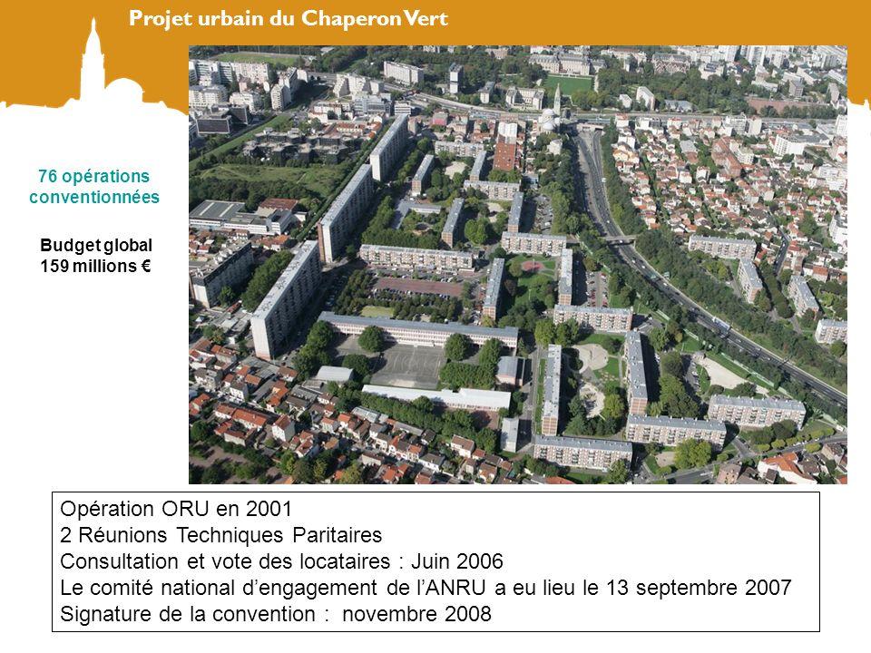 Opération ORU en 2001 2 Réunions Techniques Paritaires Consultation et vote des locataires : Juin 2006 Le comité national dengagement de lANRU a eu li