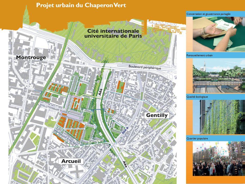 Densité et mixité des fonctions Projet urbain du Chaperon Vert