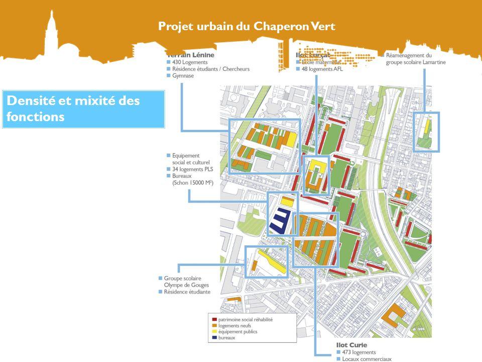 Augmenter et diversifier le parc de logements Projet urbain du Chaperon Vert 1573 logements neufs construits