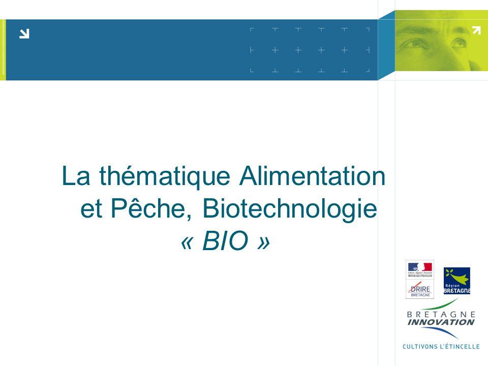 La thématique Alimentation et Pêche, Biotechnologie « BIO »