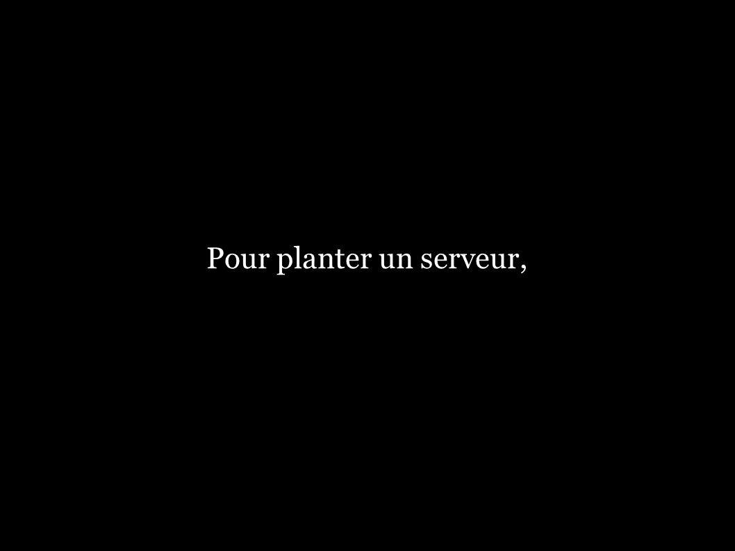 Pour planter un serveur,