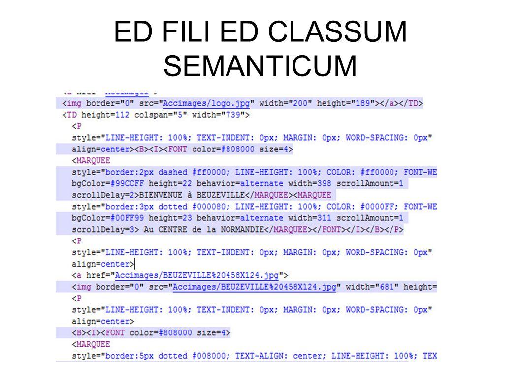 ED FILI ED CLASSUM SEMANTICUM