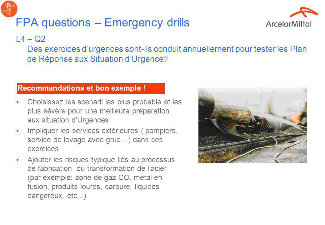 FPA questions Anomalies et reporting des incidents ; L2Q9 and L3Q4 Il y a til un système formalisé de reporting des anomalies? Toutes les anomalies do