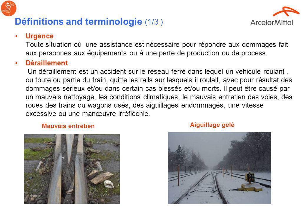 Généralités concernant les Situations Urgences & Incidents Les situations durgence ferroviaires inclues le feu, les explosions, les déraillement, les