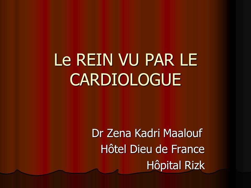 Le REIN VU PAR LE CARDIOLOGUE Dr Zena Kadri Maalouf Dr Zena Kadri Maalouf Hôtel Dieu de France Hôpital Rizk