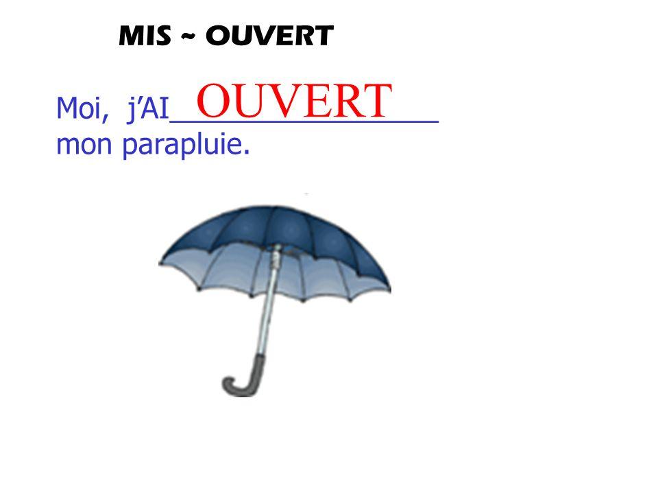 Moi, jAI_________________ mon parapluie. OUVERT MIS ~ OUVERT