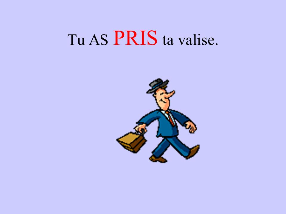 Tu AS PRIS ta valise.