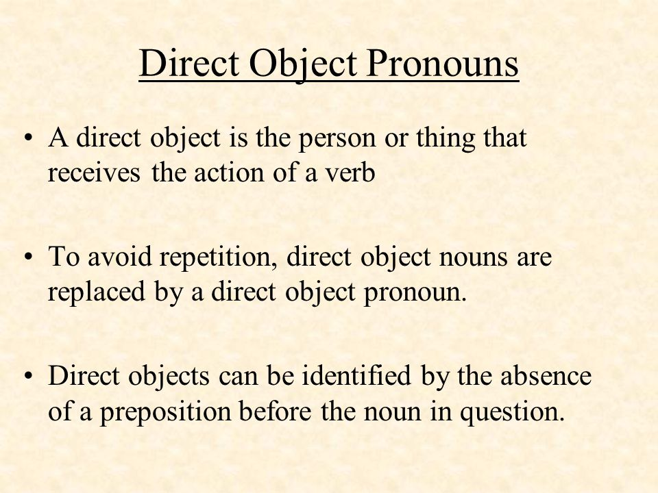 Pronoun Y The equivalent of there in English.Use to replace thing or places.