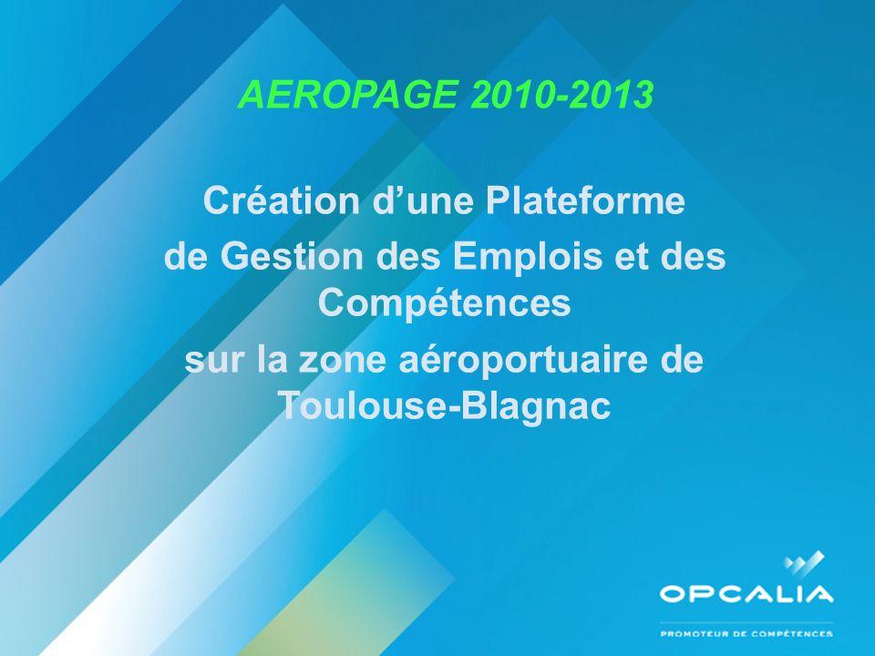 AEROPAGE 2010-2013 Création dune Plateforme de Gestion des Emplois et des Compétences sur la zone aéroportuaire de Toulouse-Blagnac