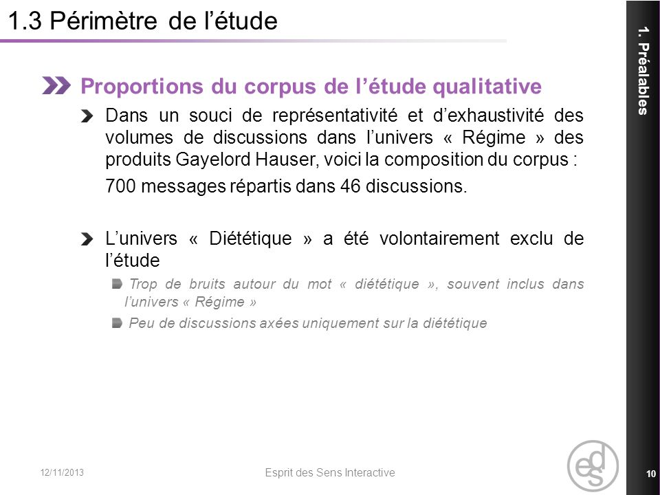 1.3 Périmètre de létude Proportions du corpus de létude qualitative Dans un souci de représentativité et dexhaustivité des volumes de discussions dans