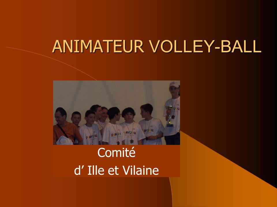 ANIMATEUR VOLLEY-BALL Comité d Ille et Vilaine
