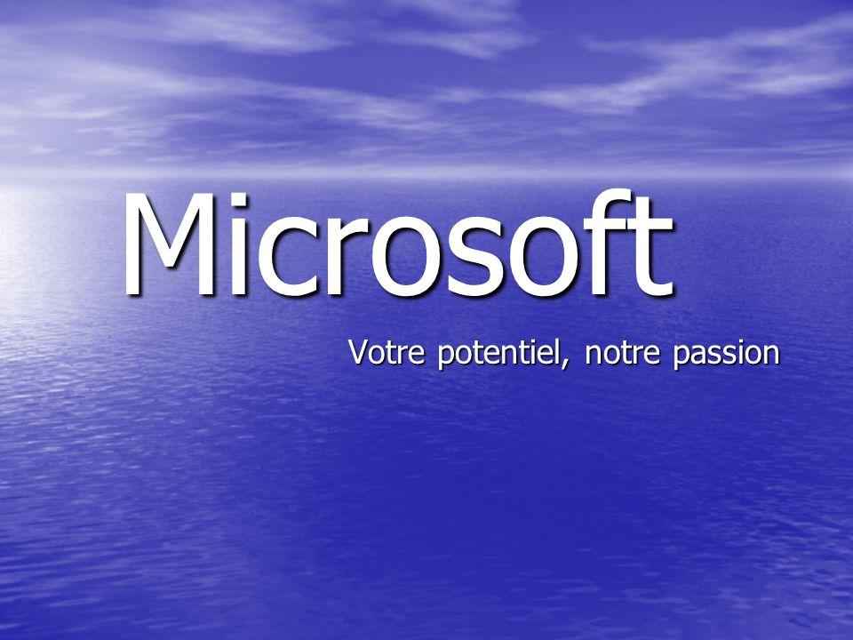 Microsoft Votre potentiel, notre passion