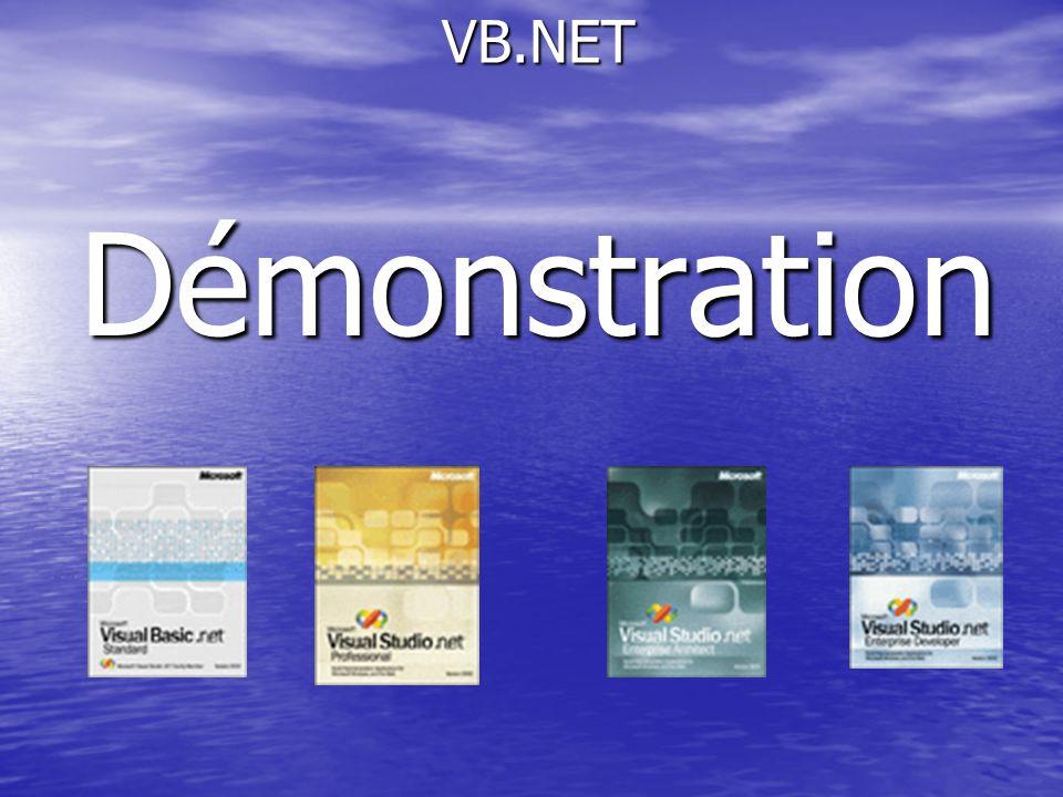 VB.NET VB.NETDémonstration
