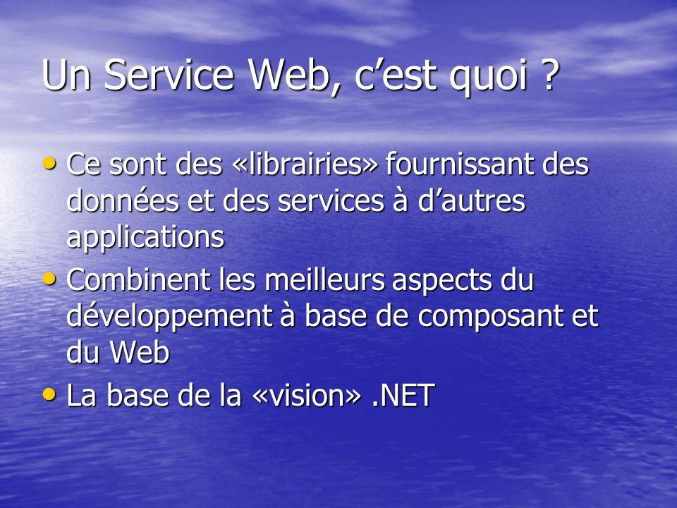 Ce sont des «librairies» fournissant des données et des services à dautres applications Ce sont des «librairies» fournissant des données et des servic