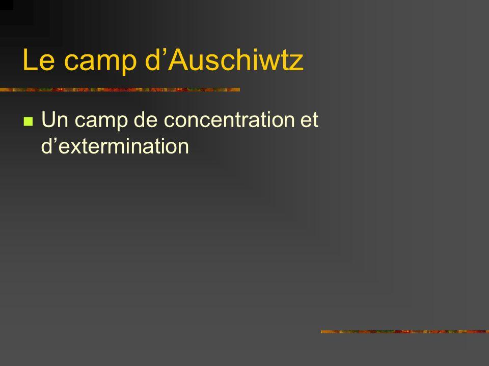 Le camp dAuschiwtz Un camp de concentration et dextermination