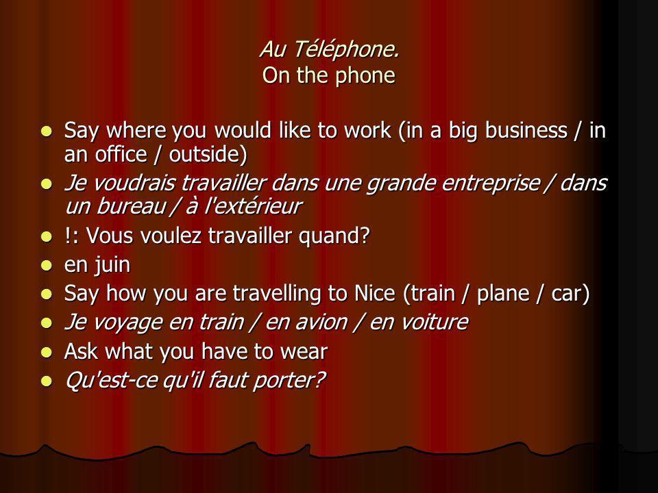 Au Téléphone.