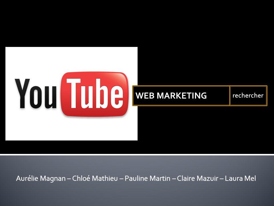 WEB MARKETING rechercher Aurélie Magnan – Chloé Mathieu – Pauline Martin – Claire Mazuir – Laura Mel