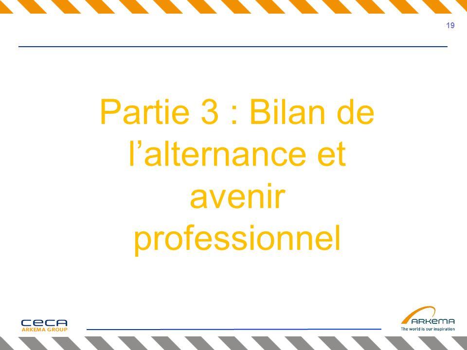Partie 3 : Bilan de lalternance et avenir professionnel 19