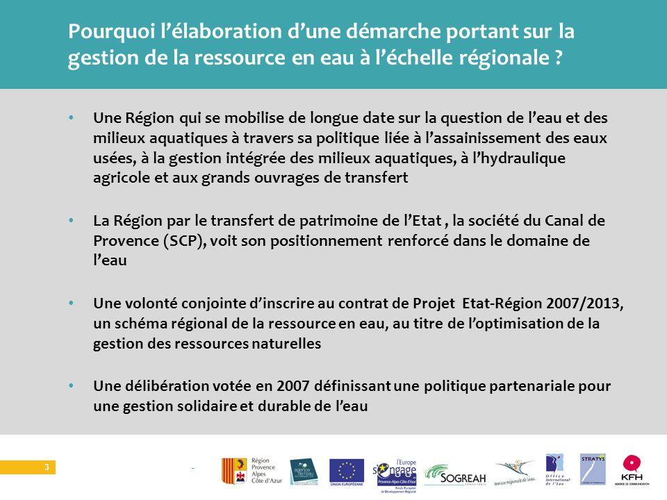 SOURCE I ATELIER TERRITORIAL 3 Une Région qui se mobilise de longue date sur la question de leau et des milieux aquatiques à travers sa politique liée