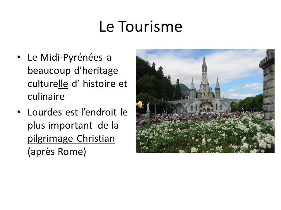 Le Tourisme Le Midi-Pyrénées a beaucoup dheritage culturelle d histoire et culinaire Lourdes est lendroit le plus important de la pilgrimage Christian (après Rome)