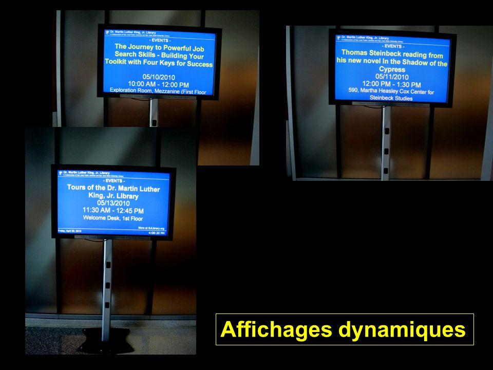 Affichages dynamiques