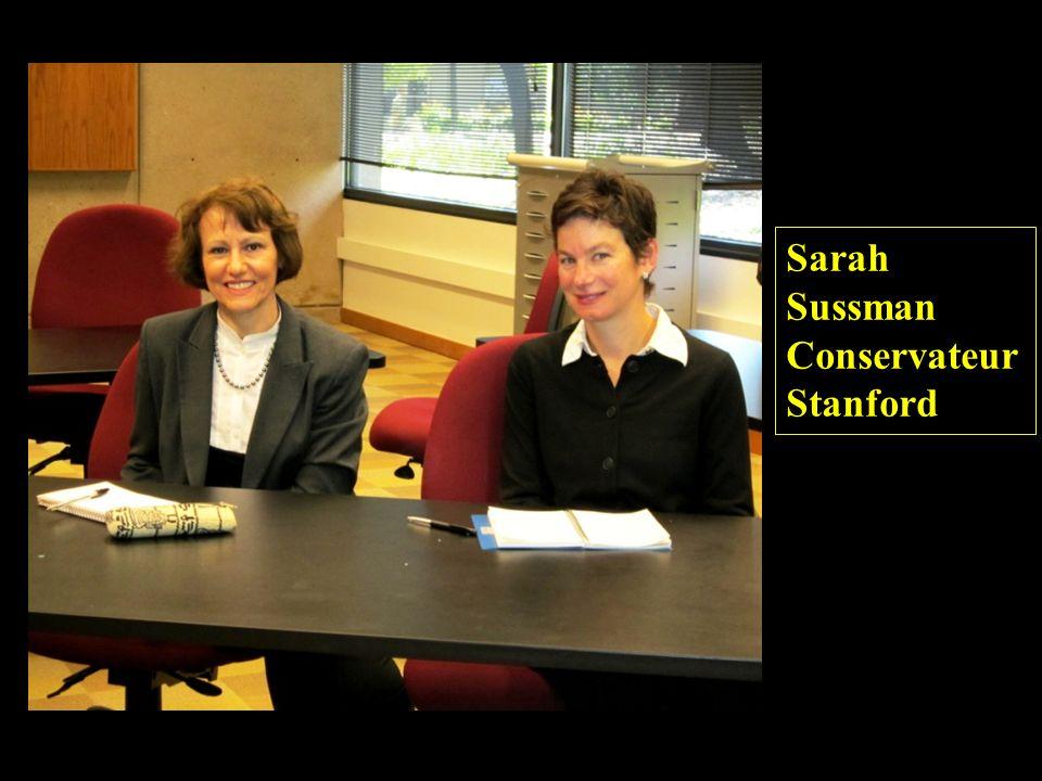 Sarah Sussman Conservateur Stanford
