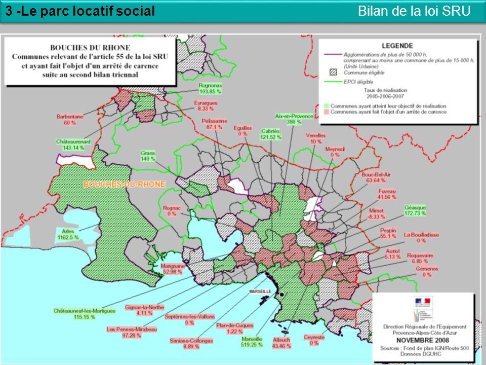20 3 -Le parc locatif social 20 Bilan de la loi SRU