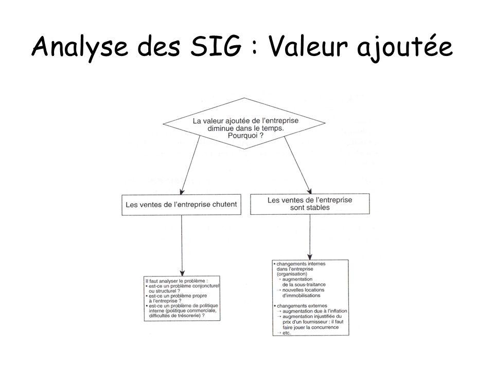 Analyse des SIG : Valeur ajoutée