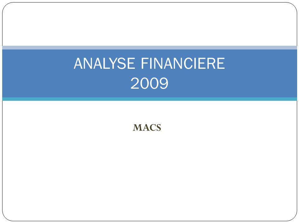 MACS ANALYSE FINANCIERE 2009