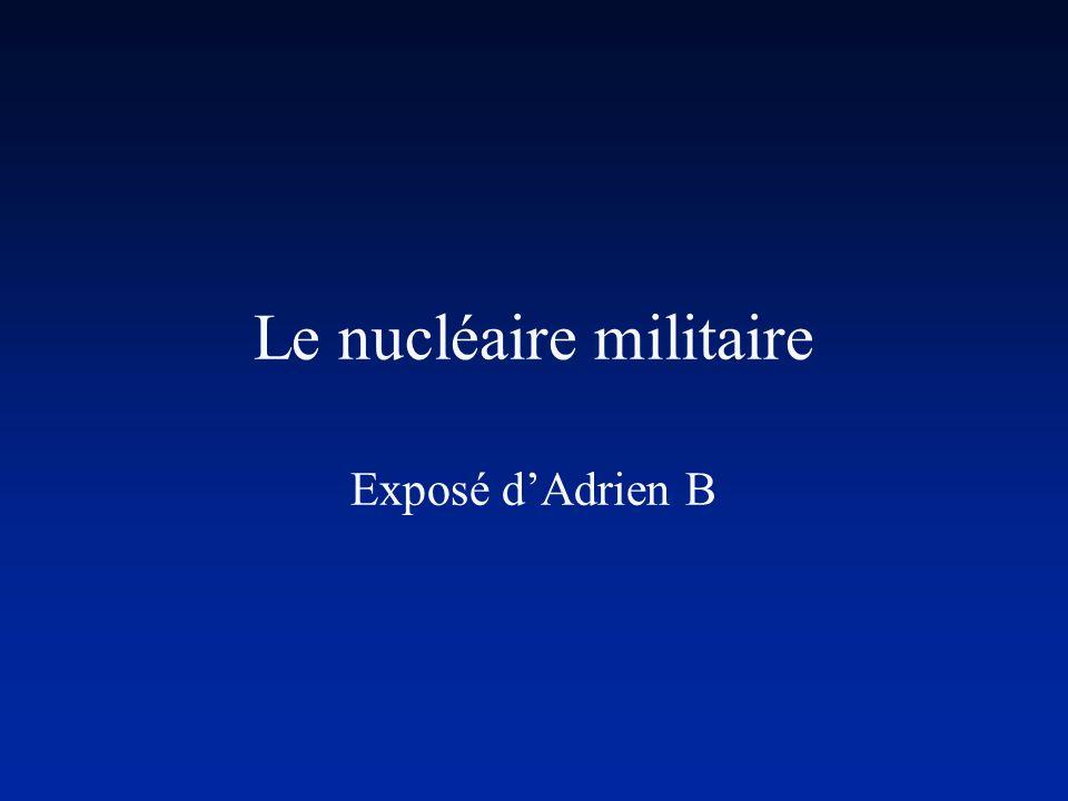 Le nucléaire militaire Exposé dAdrien B