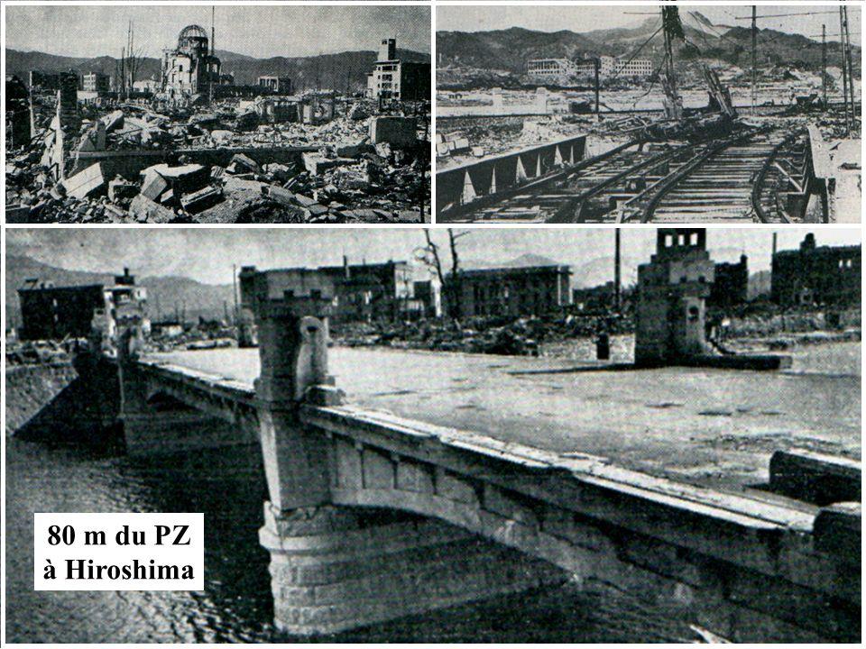 80 m du PZ à Hiroshima