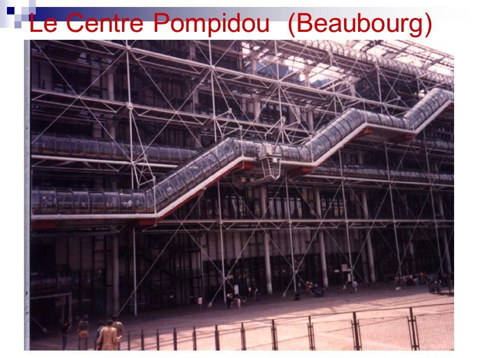 Le Centre Pompidou Le Centre Pompidou a été ouvert en 1977. Au Centre Pompidou il y a une grande bibliothèque publique, et le musée dart moderne.