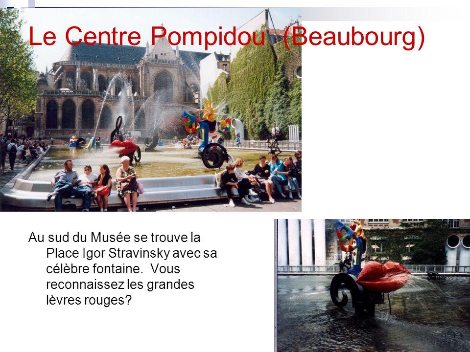 Le Centre Pompidou (Beaubourg) Voici une photo du Centre Pompidou que Monsieur a prise du 59ème étage de la Tour Montparnasse. Chaque année, le Centre