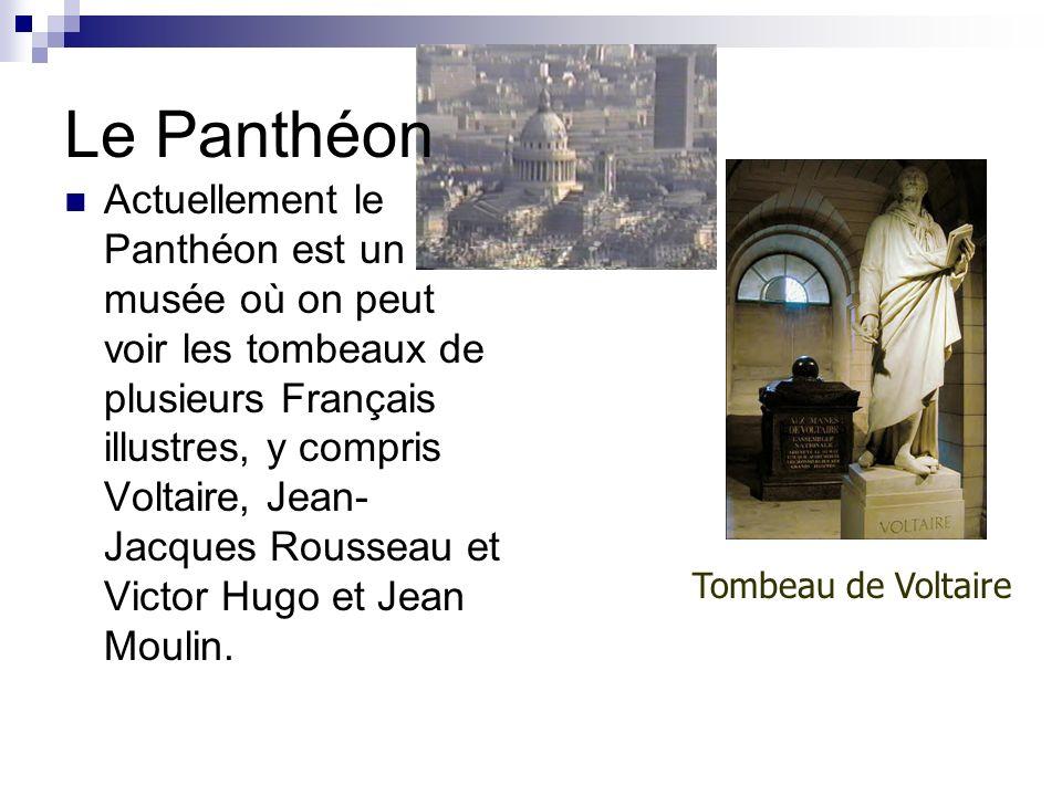Le Panthéon À lorigine, cétait une église en lhonneur de Sainte- Geneviève, la patronne de Paris.